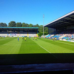 Harrogate Town F.C. - Harrogate Town take on Halifax Town at the Shay in 2016.