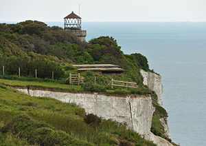 South Foreland Lighthouse - Old South Foreland Low lighthouse in 2012