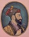 Face detail, Aurangzeb Bahadur holding an iris (6124502565) (cropped).jpg