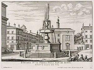 Santi Sergio e Bacco - Santi Sergio e Bacco in Piazza Madonna dei Monti from Giovanni Battista Falda Le fontane di Roma (about 1670)
