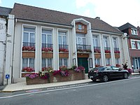 Fauquembergues (Pas-de-Calais, Fr) mairie.JPG