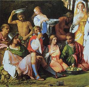 Chinese porcelain in European painting - Chinese Ming-type bowls in Giovanni Bellini's The Feast of the Gods (1514)