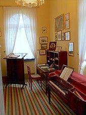 The composer's study in Mendelssohn House, a museum in Leipzig. (Source: Wikimedia)