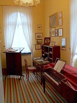 Felix Mendelssohn's Leipzig study