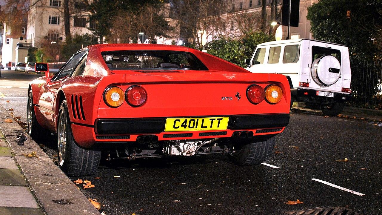 フェラーリ 288GTOの写真後ろ側