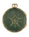 Fickur med yttre boett av förgylld brons och pressat skinn, 1700-tal - Hallwylska museet - 110446.tif