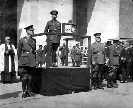 Field Marshal Lord Plumer at the unveiling of the Menin Gate memorial, Belgium, 24 July 1927