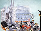 A gouache entitled Fifth Avenue by Zelda Fitzgerald