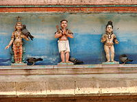 image of three saints in temple tower