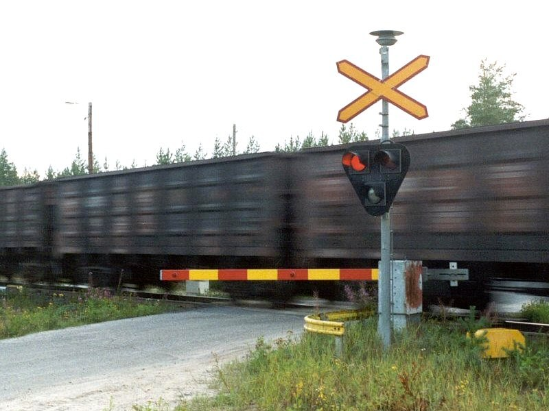Finnish level crossing activated