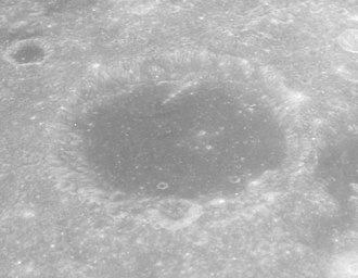 Firmicus (crater) - Oblique view of Firmicus facing south from Apollo 17