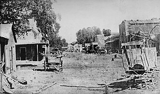 History of Visalia, California - First known photo of Visalia, California 1863