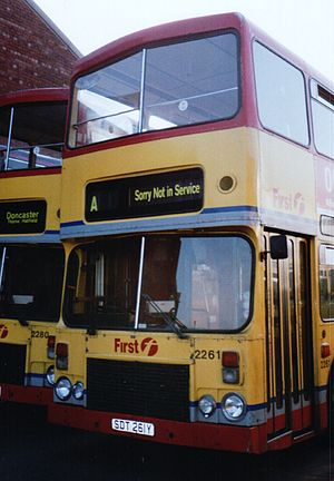 First South Yorkshire - Alexander RH bodied Dennis Dominators in 2001