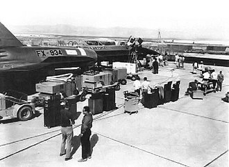 Area 51 - The 2nd YF-12A interceptor prototype at Groom Lake, Nevada (USAF Photograph)