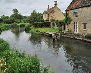 Fairford - Image: Fishing River Coln Fairford