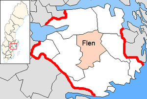 Flen Municipality - Image: Flen Municipality in Södermanland County