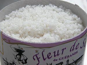 Fleur de Sel sea salt from Guérande, France in...