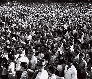 Cyprus internment camps - Anti-deportation protest rally, Tel Aviv, 1946