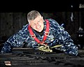 Flickr - Official U.S. Navy Imagery - MCPON climbs the main mast of the USS Constitution..jpg