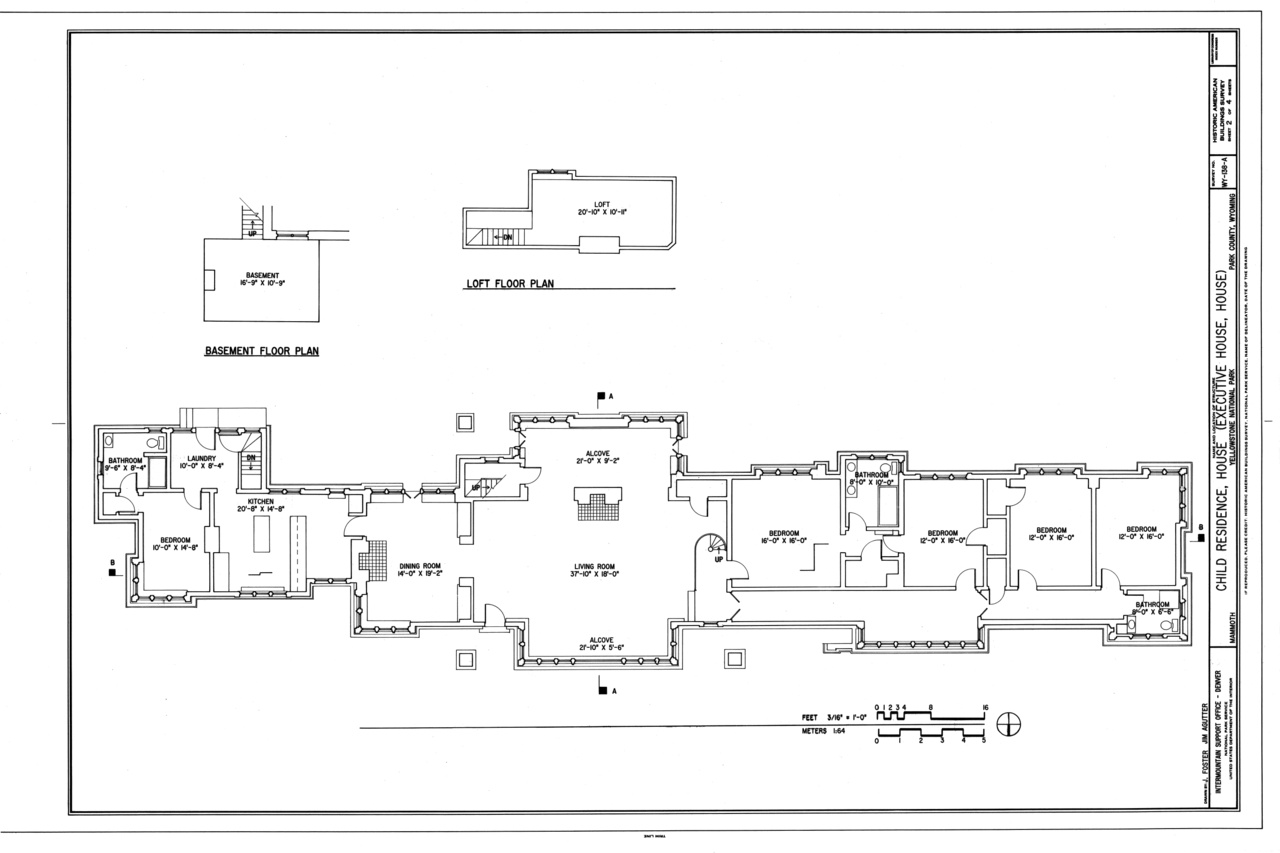 file floor plans child residence house southwest of nichol file floor plans child residence house southwest of nichol residence and south of cafeteria mammoth park county wy habs wy 138 a sheet 2 of 4 png