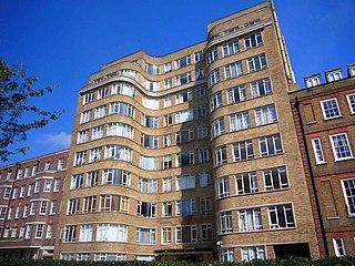 Florin Court Art Deco - Streamline Moderne residential building in London