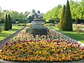 Flower beds and fountain in the Italianate garden in Regent's Park - geograph.org.uk - 1276795.jpg