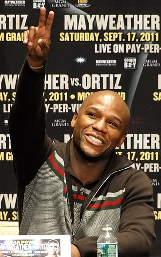 Floyd Mayweather Jr. - Mayweather photographed at the Mayweather–Ortiz press conference on June 28, 2011