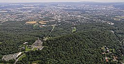 Bilder vom Flug Nordholz-Hammelburg 2015: Blick auf Herkules, Schloss Wilhelmshöhe und Kassel