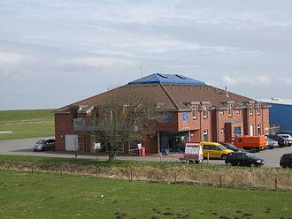 Harle Airfield - Image: Flugplatz Harle Gebäude