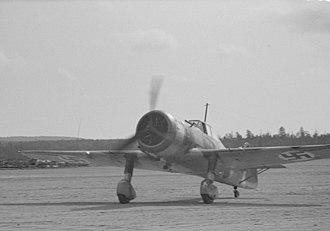 Fokker D.XXI - A Fokker D.XXI, August 1942