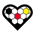 Football Heart Soccer Fußball Fussball Herz - Version Deutschland Germany Schwarz Rot Gold. Clemens Ratte-Polle.png