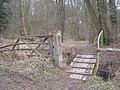 Footbridge into Broxham Wood - geograph.org.uk - 1754619.jpg