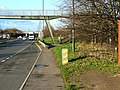 Footbridge over the A40, Barnwood - geograph.org.uk - 1070097.jpg