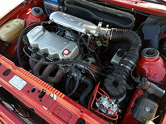 Ford CVH engine - 1.6L Ford CVH engine in a 1988 Ford Escort Xr3i