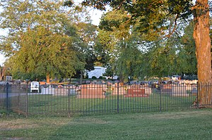 Forest Hill Cemetery (Greencastle, Indiana) - Roadside view