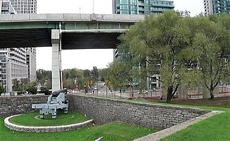 Fort York (neighbourhood) - Fort York is situated near the city's original watefront. The area that makes up Fort York neighbourhood was the result of land reclamation projects in the late-19th and early-20th century.