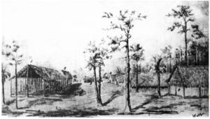Fort Denaud, Florida - Fort Denaud, sketched by Alexander Webb in early 1856