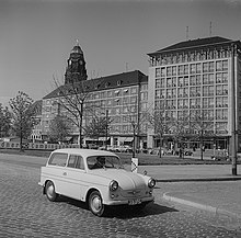 A Trabant in Dresden in 1961
