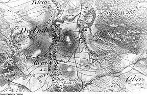 Großdrebnitz - Silver mining in Großdrebnitz (Silbergrube, 1821)