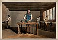 Four men are working at benches with hammers and vices. Colo Wellcome V0039779.jpg