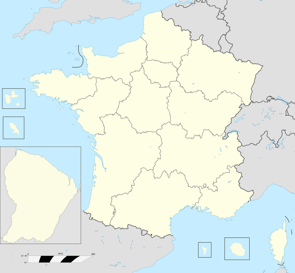 France base map 18 regions