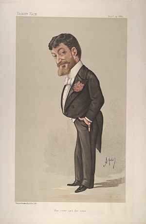 "Paolo Tosti - ""For ever and for ever"". Caricature by Ape published in Vanity Fair in 1885"