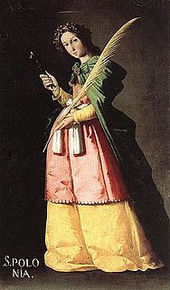 Saint Apollonia Christian female saint and martyr