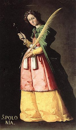 De Heilige Apollonia door Francisco de Zurbarán