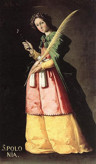 Saint Apollonia - Saint Apollonia, by Francisco de Zurbarán Museum of Louvre, from the Convent of the Order of Our Lady of Mercy and the Redemption of the Captives Discalced of Saint Joseph (Seville).