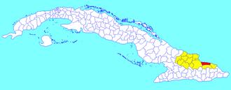 Frank País, Cuba - Image: Frank País (Cuban municipal map)