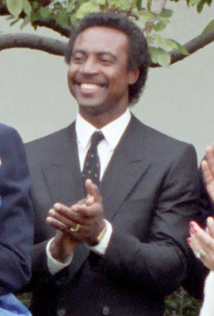 Frank White (baseball) - White at the White House in 1985