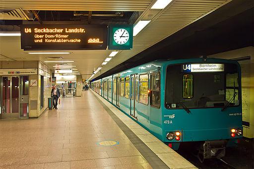 Frankfurt Hauptbahnhof U-Bahn Typ U3 Linie U4