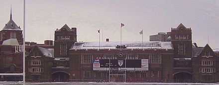 Franklin Field, home to football, field hockey, lacrosse and track and field FranklinFieldPenn.jpg
