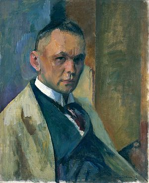 Franz Nölken - Self-portrait (1915)